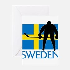 Sweden Hockey Greeting Cards