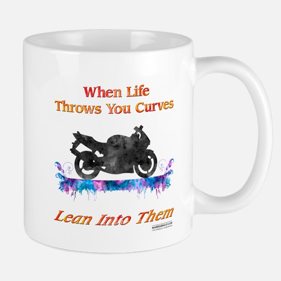 Lean Into Curves Watercolor Mugs