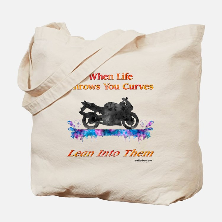 Lean Into Curves Watercolor Tote Bag