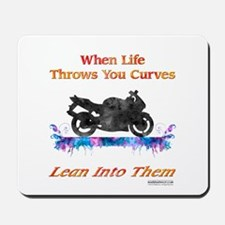 Lean Into Curves Watercolor Mousepad