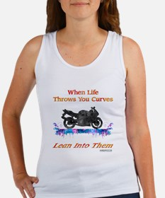Lean Into Curves Watercolor Tank Top