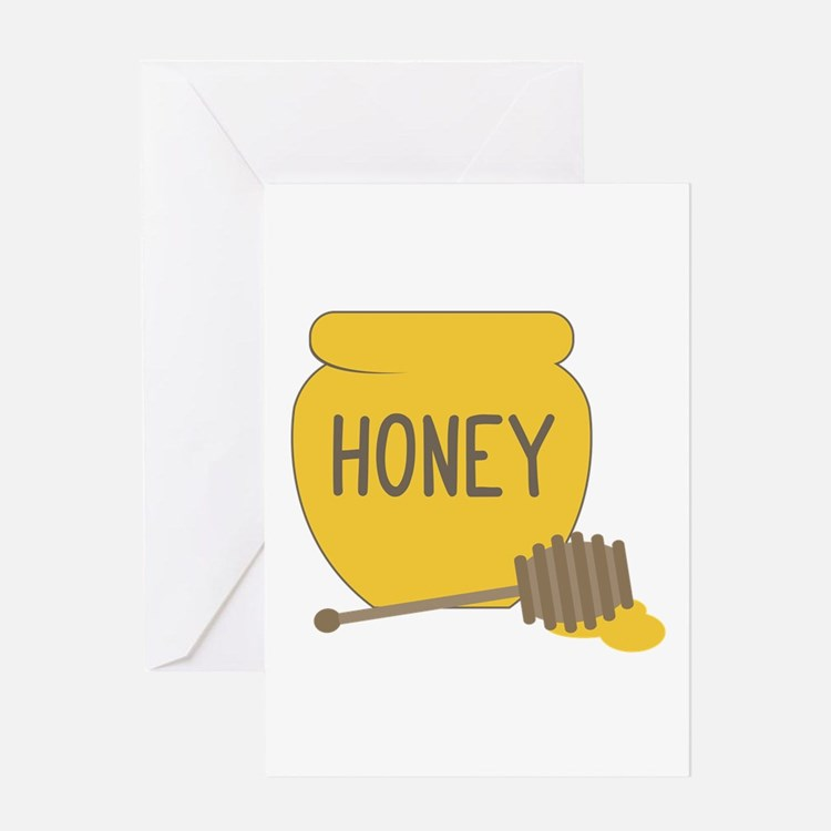 Sweet Honeypot Jar Greeting Cards