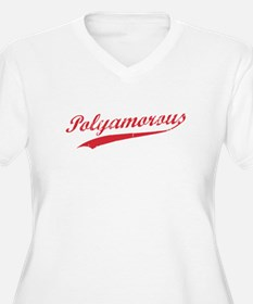 Team Polyamory Polyamorous and Proud Plus Size T-S