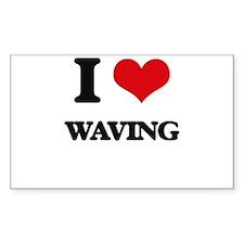 I love Waving Decal