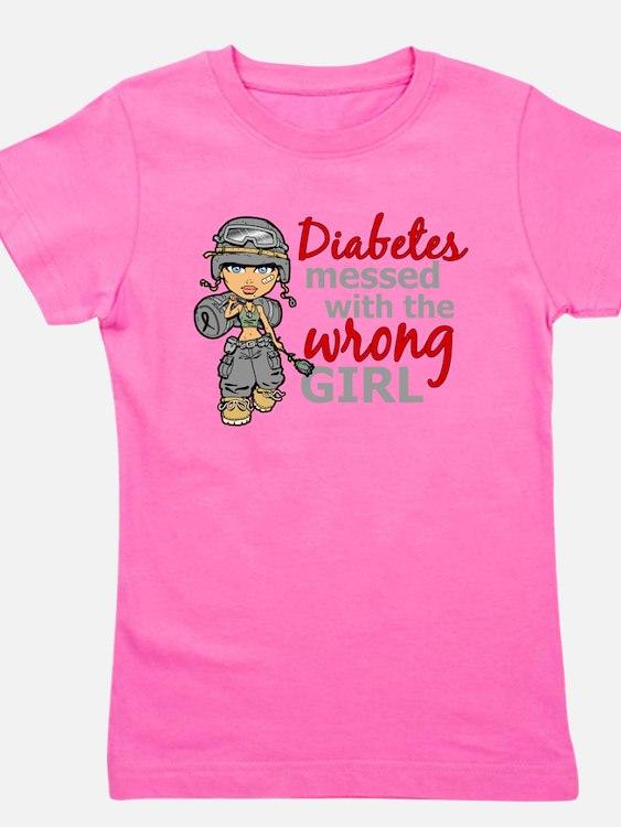 Cute Diabetic Girl's Tee