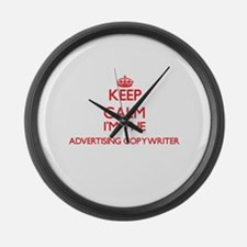 Keep calm I'm the Advertising Cop Large Wall Clock
