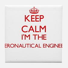 Keep calm I'm the Aeronautical Engine Tile Coaster