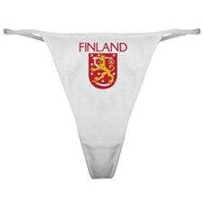 Finland Coat of Arms Classic Thong