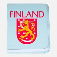 Finland Coat of Arms baby blanket