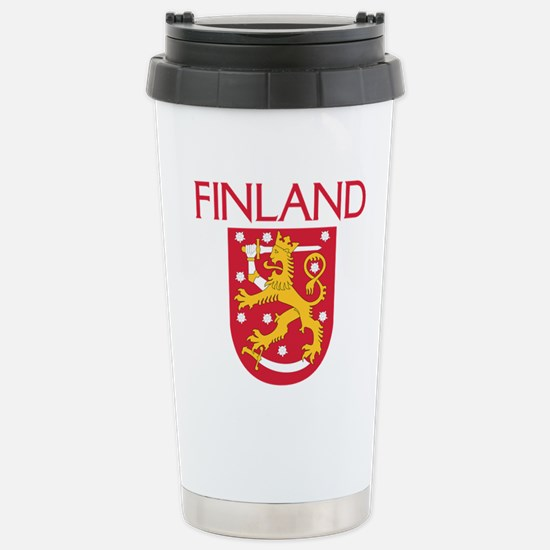 Finland Coat of Arms Stainless Steel Travel Mug