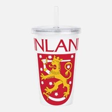 Finland Coat of Arms Acrylic Double-wall Tumbler
