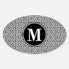 Black and White Greek Key Custom Mo Decal