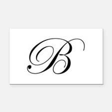 B-edw black Rectangle Car Magnet