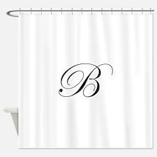 B-edw black Shower Curtain