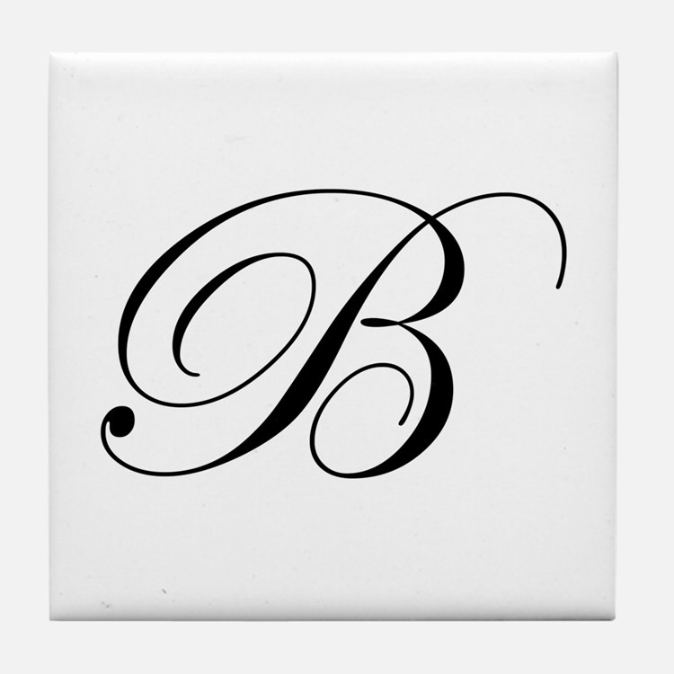 B-edw black Tile Coaster
