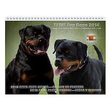 Top Dog Rottweiler Wall Calendar