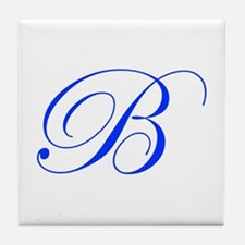 B-edw blue Tile Coaster
