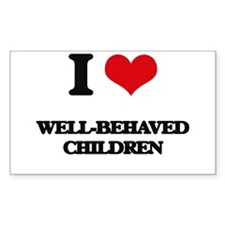 I love Well-Behaved Children Decal