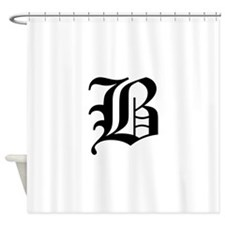 B-oet black Shower Curtain