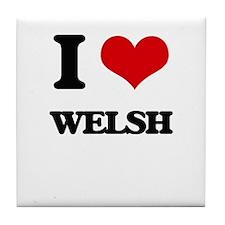 I love Welsh Tile Coaster