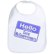 Hello Cutie McCrappypants Bib