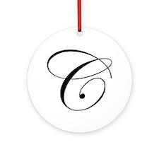 C-edw black Ornament (Round)