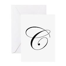 C-edw black Greeting Cards