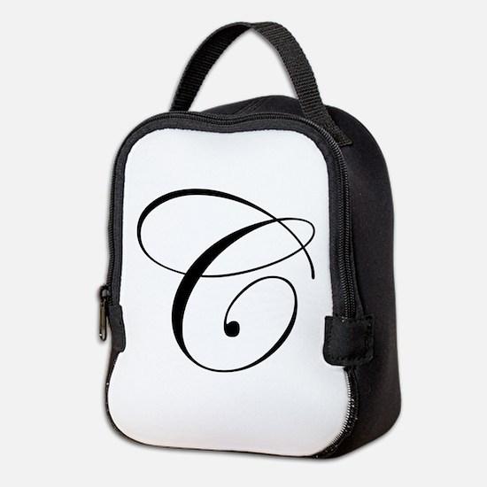 C-edw black Neoprene Lunch Bag