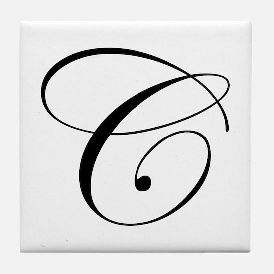 C-edw black Tile Coaster