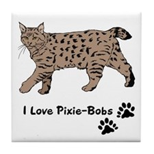 Pixie-Bob (color) Tile Coaster
