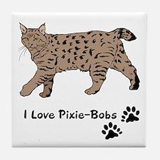 Pixie-Bob (color) Tile Coaster