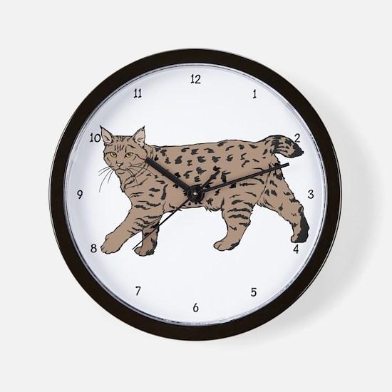 Pixie-Bob (color) Wall Clock