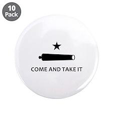 "BATTLE OF GONZALES 3.5"" Button (10 pack)"