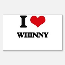 I love Whinny Decal