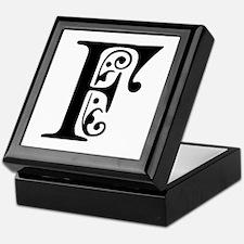 F-pre black Keepsake Box
