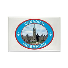 Proud Canada Mason Rectangle Magnet (10 pack)