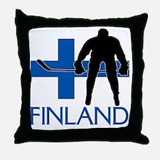 Finland Hockey Throw Pillow