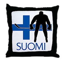 Suomi Hockey Throw Pillow