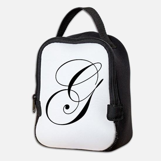 G-edw black Neoprene Lunch Bag