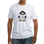 love linux Penguin Fitted T-Shirt
