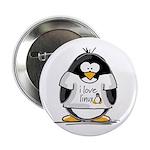 love linux Penguin Button