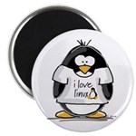 love linux Penguin Magnet