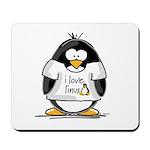 love linux Penguin Mousepad