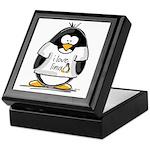 love linux Penguin Keepsake Box