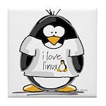 love linux Penguin Tile Coaster