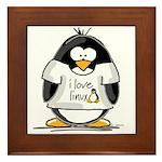 love linux Penguin Framed Tile