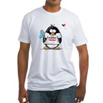 linux Penguin Fitted T-Shirt
