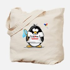 linux Penguin Tote Bag