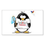 linux Penguin Rectangle Sticker
