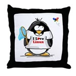 linux Penguin Throw Pillow